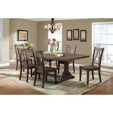 Picket House Furnishings Flynn 7 Piece Dining Table Set With 4 Wooden Side Chairs And 2 Parson Chairs Dfn100sp7pc The Home Depot