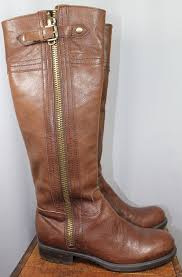 brown leather riding boots women