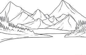 fotos de paisajes para dibujar bonitos | Paisajes dibujos, Montañas dibujo  y Dibujos para colorear paisajes