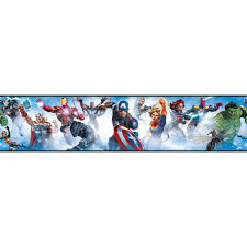 Marvel Avengers Peel Stick Wallpaper Border Removable Kids Room Wall Decor 15 Feet Long Walmart Com Walmart Com
