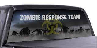 Fgd Brand Bio Hazard Zombie Response Team Truck Rear Window Wrap Perforated Vinyl Decal Family Graphix Llc
