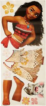 Roommates Moana Peel And Stick Giant Wall Decals Wall Decor Stickers