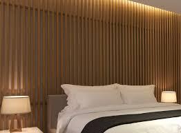 create a wood slat accent wall