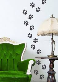 animal paw prints vinyl decal stickers