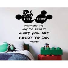 All Things Valuable Every Moment Quote Minnie Mickey Disney Cartoon Quotes Wall Sticker Art Decal For Girls Boys Room Bedroom Nursery