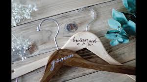 Easy Diy Wedding Bridal Hangers Youtube