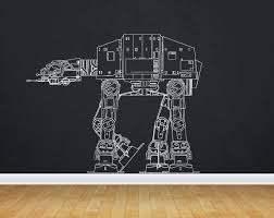 Amazon Com At At Decal Atat Sticker Atat Walker Star Wars Death Star Storm Trooper Yoda Wall Art Wall Decals Wall Stickers Tr366 Home Kitchen