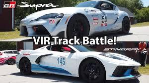 Corvette C8 vs Toyota Supra, sfida a tutto gas... sull'erba: il ...