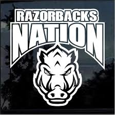 Arkansas Razorbacks Nation Window Decal Sticker Custom Sticker Shop
