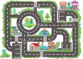 Children Board Game City Road Wallpaper Or Carpet For Childrens Room Kids Background With Highway With Buildings Background For Gaming Childish Car Maze With Road Signs Vector Illustration Stock Illustration Download