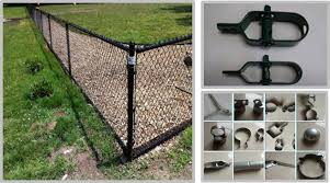 Pvc Coated Chain Link Fence Black Color For Commercial Private Grounds
