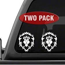 Amazon Com Signage Cafe World Of Warcraft Alliance 2pk Decal Sticker For Car Window Laptop And More 4 X 5 1 White Automotive