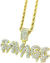 Amazon.com: Exo Jewel Iced Out Gold Diamond Savage Bubble Word ...