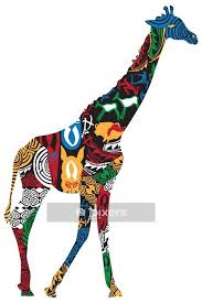 Giraffe In The African Ethnic Patterns Wall Decal Pixers We Live To Change