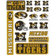 Missouri Tigers Decals 18ct Party City