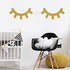 Sleepy Eyes Wall Decal Good Lashes Home Decor Baby Girl Bedroom Nursery Wall Sticker Eye Eyelashes Beauty Salon Shop Mural Wall Accents Stickers Wall Adhesives From Nanfang2016 0 99 Dhgate Com