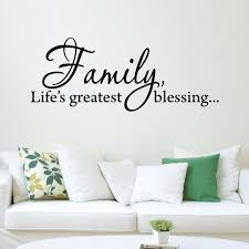 Vwaq Family Life S Greatest Blessing Wall Decal Inspirational Quote Family Wall Art Vwaq 2789 22 W X 8 5 H Walmart Com Walmart Com