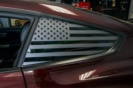 American Flag Quarter Window Decal Set 2015 2018 Mustang Premium Auto Styling