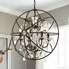 crystal globe pendant light retro