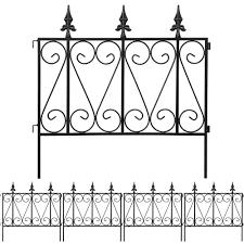 Amagabeli Garden Fence Rustproof Metal Wire Fencing 24inx10ft Outdoor Landscape Decorative Border Edge Section Edging Decor Picket Black Folding Wire Patio Fences Flower Bed Animal Dogs Barrier Fc03 Patio Lawn Garden