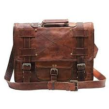 mens vintage leather laptop bag uni