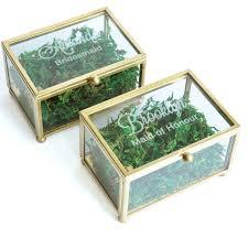 glass ring box bridesmaid jewelry