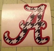 Alabama Decal Houndstooth For Your Yeti Tumbler Rambler 8 00 Picclick