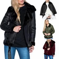 leather biker jacket parka coat camel