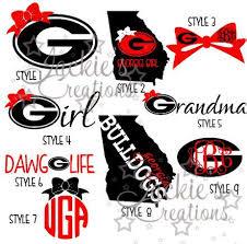 Ga Bulldogs Uga Decals Ga Bulldogs Georgia Shirt Silhouette Design