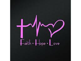 Faith Hope Love Vinyl Decal Sticker Cars Trucks Vans Walls Laptops Cups Pink 6 X 4 Inch Fai1234p Newegg Com