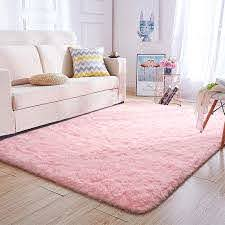 Amazon Com Super Soft Kids Room Baby Nursery Rug 4 X 6 Mordern Indoor Pink Fluffy Area Rugs For Bedroom Living Room Floor Carpets By Varycarry Kitchen Dining