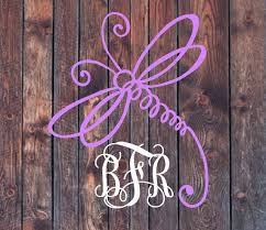 Dragonfly Monogram Decal Lilly Pulitzer Yeti By Shopsouthmagnolia Cup Decal Vinyl Monogram