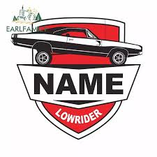 Earlfamily 13cm X 12 1cm For Low Rider Car Label American Muscle Car Bumper Window Sticker Personality Creative Waterproof Decal Car Stickers Aliexpress