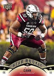 A.J. Cann football card (South Carolina Gamecocks) 2015 Upper Deck Star  Rookie #144 at Amazon's Sports Collectibles Store