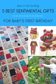 5 sentimental first birthday gifts from