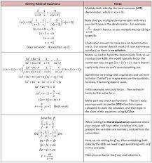 solving rational equations rational