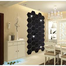 Geometric Hexagon Mirror Wall Sticker Diy Home Decor Large Living Room Removable Safety Diy Wall Stickers Football Wall Stickers Full Wall Decal From Pcharon 0 81 Dhgate Com
