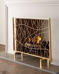 gold fireplace screen horchow com