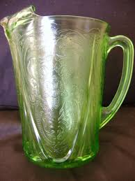 vaseline glass royal lace large water