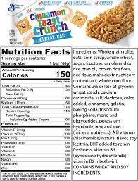 cinnamon toast crunch cereal bars