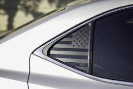 Xplore American Flag Window Decals Universal Fit Matte Black Usa Vinyl For Rear Side Window Car Suv Truck Both Sides Free Installation Tool 24 X 14
