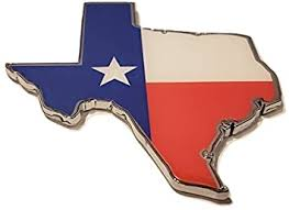 Amazon Com Muzzys Large 3 5 Texas Flag In Shape Of Texas State Edition Emblem Decal Longhorn Lone Star Metal Badge Universal Stickon Fits Chevy Silverado Suburban Tahoe Sierra Ford F150 Ranger F 150 Dodge
