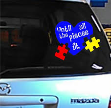 Autism Awareness Until All The Pieces Fit Heart Puzzle Etsy