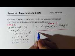 find quadratic equation from given