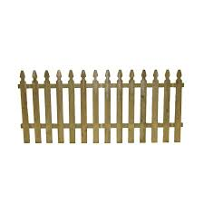 3 5 Ft X 8 Ft Pressure Treated French Gothic Space Picket Fence Panel Fsfg4245814 The Home Depot In 2020 Fence Panels Picket Fence Panels Wood Picket Fence