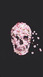 pink skull wallpaper image