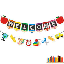 Colorful Welcome Letter Banner Child Birthday Party Room Door Decoration Garland Festival Bunting Banner Party Supplies Party Diy Decorations Aliexpress