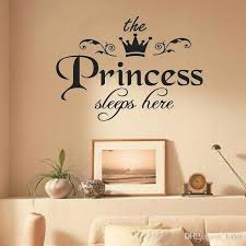 The Princess Sleeps Here Wall Sticker For Girls Room Baby Girl Bedroom Background Home Decoration Stickers Art Decals Wallpaper Decorative Wall Art Stickers Decorative Wall Clings From Lotlot 1 6 Dhgate Com