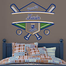 Kansas City Royals Personalized Name Wall Decal Shop Fathead For Wall Art Decor Baseball Bedroom Boys Baseball Bedroom Nursery Room Boy