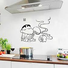 Cute Home Diy Japanese Cartoon Crayon Shin Chan Wall Sticker Decals Wall Decor Mural Home Kitchen Decoration Wall Decor Kitchen Decorationwall Sticker Aliexpress